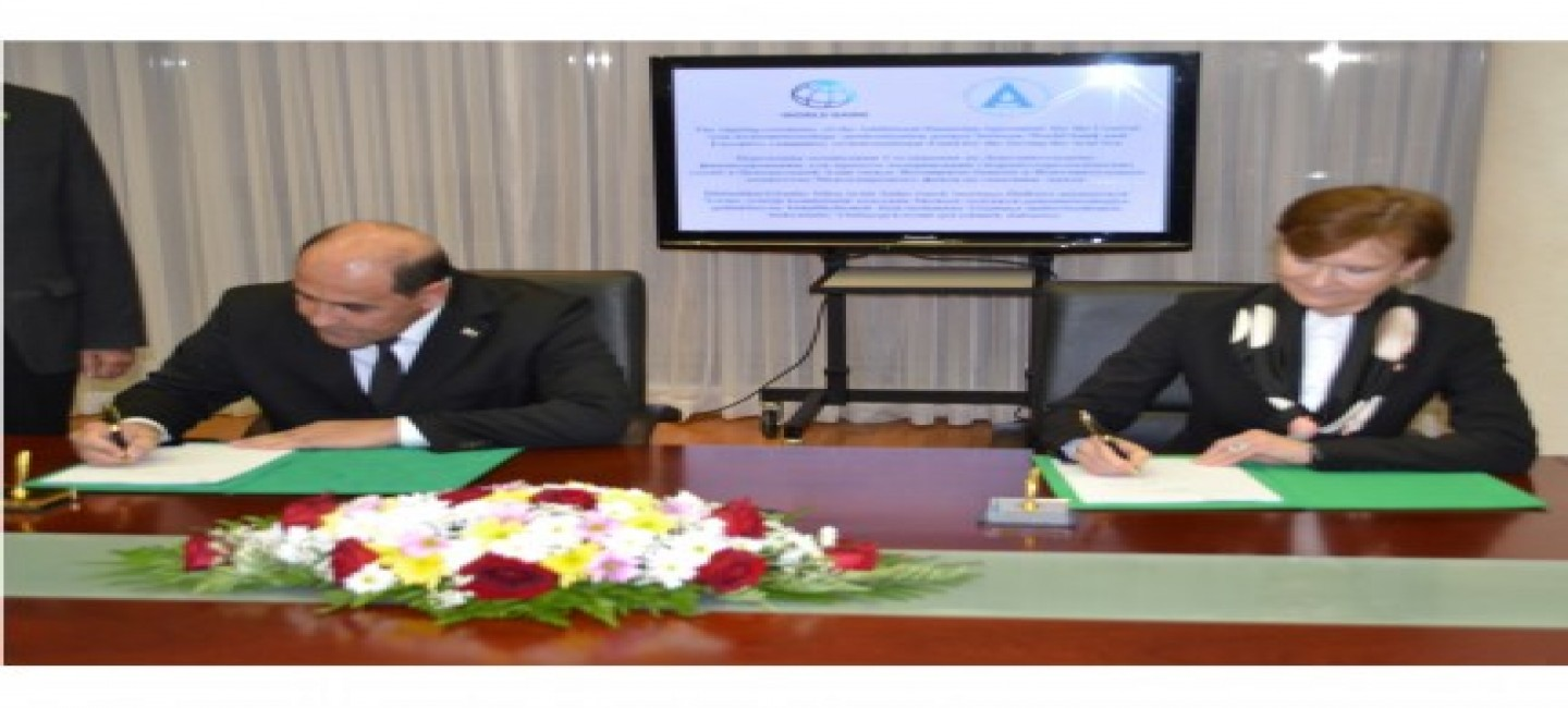 SIGNING OF THE AGREEMENT BETWEEN IFAS AND WORLD BANK AT THE FOREIGN MINISTRY OF TURKMENISTAN