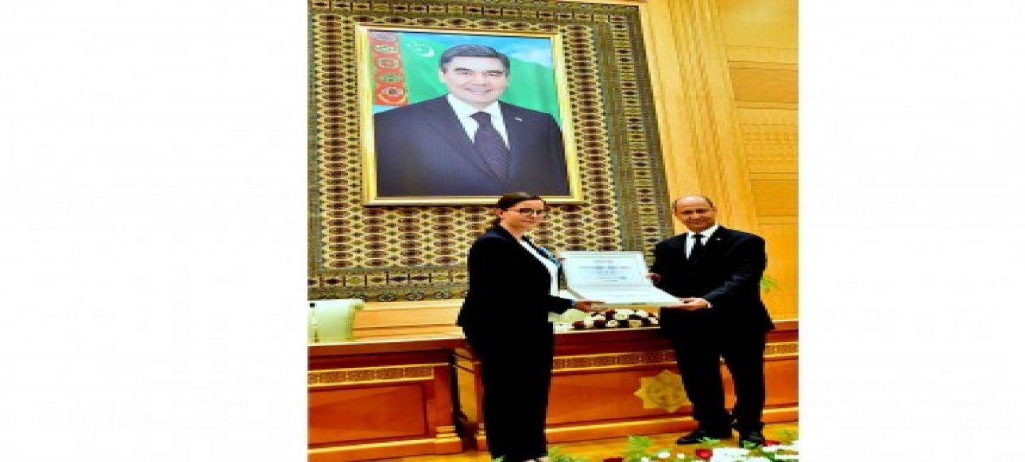 TURKMENISTAN RECEIVES UNICEF'S AWARD LETTER FOR SUSTAINING HIGH IMMUNIZATION RATES