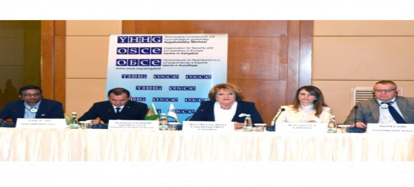USE OF INNOVATIVE TECHNOLOGIES FOR SUSTAINABLE WATER MANAGEMENT IN CENTRAL ASIA - FOCUS OF OSCE SEMINAR IN TURKMENISTAN