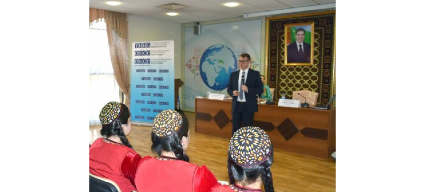 OSCE-ORGANIZED LECTURE SERIES ON ETHICS IN LAW ENFORCEMENT TAKES PLACE IN TURKMENISTAN