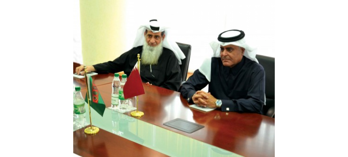 A MEETING WITH THE AMBASSADOR OF THE STATE OF QATAR WAS HELD AT THE FOREIGN MINISTRY OF TURKMENISTAN